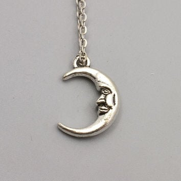 New fashion jewelry chain link crystal moon sun Elephant tree leaf pendant necklace mix design for women girl nice gift N1722
