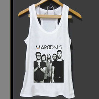 Maroon 5 Band Adam Levine  for Tank top Mens and Tank top Girls ZeroSaint custom