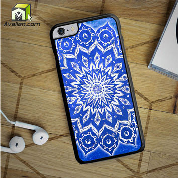 Sky Floral Mandala iPhone 6S Plus case by Avallen