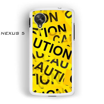 Caution Yellow Tape for Nexus 4/Nexus 5 phonecases