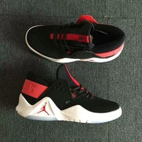 hcxx Air Jordan Flight Fresh Fashion Basketball Shoes Black Red