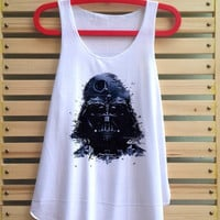 star wars darth vader shirt darth vader tank top clothing vest tee tunic singlet women shirt - size S M