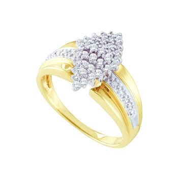 Diamond Ladies Cluster Ring in 14k Gold 0.25 ctw
