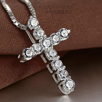 Shop Mens Sterling Silver Cross Pendant on Wanelo