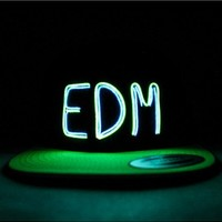 EDM Double Wire Light Up Snapback | EL Wire Light Up Hat | Glow Hat