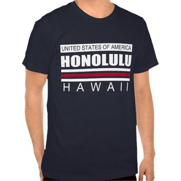United States of America HONOLULU HAWAII Tee