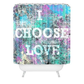 Choose Love shower curtain