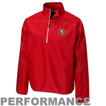 Women's San Francisco 49ers Cutter & Buck Scarlet Westward Tri-Blend Slub Long Sleeve T-Shirt