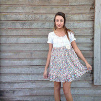 Nicole dress-small-artsy-Eco clothing-upcycled clothing- by Andys Summer design