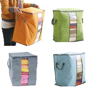 2015 New Multi-color bamboo charcoal quilt clothing storage bag sorting bags storage bags non-woven home storages box
