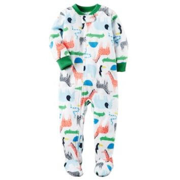 Toddler Boy Carter's Print Fleece Footed Pajamas | null