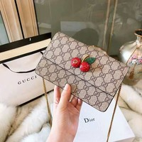 GUCCI 2018 new trend cherry crossbody shoulder chain pouch