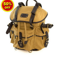 Outdoor Canvas School Multi Pocket Backpack