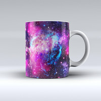 The Bright Trippy Space ink-Fuzed Ceramic Coffee Mug