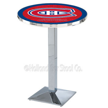Holland Bar Stool L217 - Chrome Montreal Canadiens Pub Table