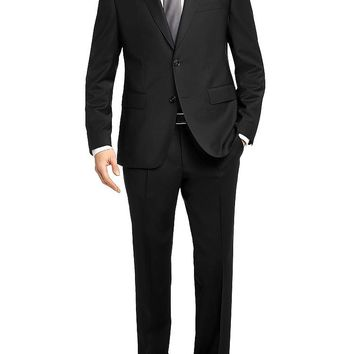 'Jets/Lenon' | Regular Fit, Traveler Virgin Wool Suit by BOSS