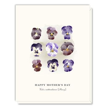 Mother's Day Pansies Card