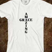 AMAZING GRACE RELIGIOUS CHRISTIAN SHIRT CROSS TEE
