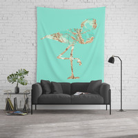 Flamingo Spring Wall Tapestry by byjwp