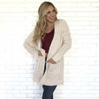 Walking On A Dream Cream Cardigan