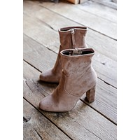 Microsuede Block Boot, Camel | Steve Madden