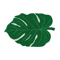 Monstera Leaf Washable Cotton Rug