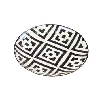Night Glow Round Pattern Plates - Set of 4