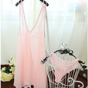 Hot Deal Cute On Sale Lace King Size Dress Plus Size Sexy Sleepwear Exotic Lingerie [6595948291]
