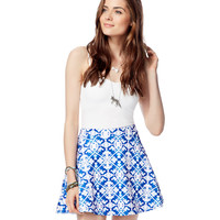 Aeropostale Womens Stretch Watercolor Skirt - Catalina,