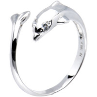 Solid 14K White Gold Dolphin Toe Ring | Body Candy Body Jewelry