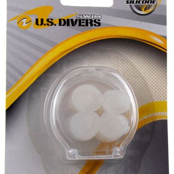 US Divers Silicone Swimming 4 Ear Plugs With Case Swim Set 4 Moldable Reusable