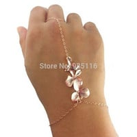 Flower hand chain Vintage Charm Bracelets For Women Gold Punk Bracelets & bangels Fashion Jewelry