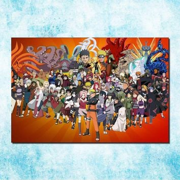 Naruto Sasauke ninja  Shippuden Hot Anime Game Poster Art Silk Canvas Print 13x20 20x30 inch Wall Picture for Home Decor (more)-13 AT_81_8