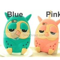 "3D Cute cartoon animal owl silicone Case Cover For 4.7"" iphone 6 - DinoDirect.com"