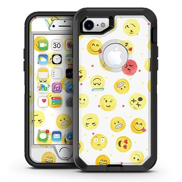 The All Over Emoji Pattern - iPhone 7 or 7 Plus OtterBox Defender Case Skin Decal Kit