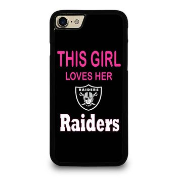 THIS GIRL LOVES THE RAIDERS iPhone 4/4S 5/5S/SE 5C 6/6S 7 8 Plus X Case