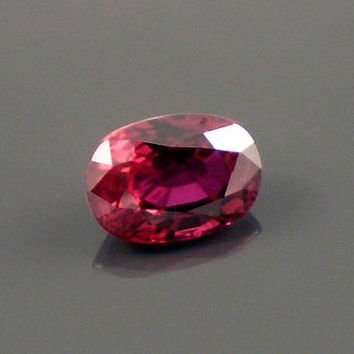 Ruby: 1.08ct Red Oval Shape Gemstone, Natural Hand Made Faceted Gem, Loose Precious Corundum Mineral, OOAK Cut Crystal Jewelry Supply 20244