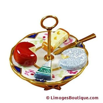CHEESE PLATE FOOD LIMOGES BOX