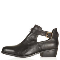 MONTI Cut Out Leather Boots - Boots  - Shoes