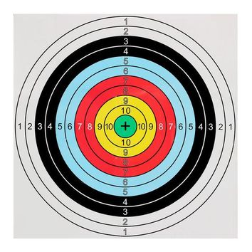 DCCKL72 40x40cm Bow&Arrow Shooting Archery Target Paper bullseye target face for recurve bow outdoor sport hunt shoot accessories