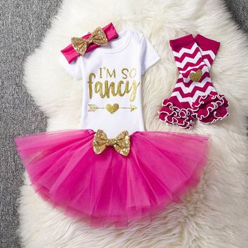 Baby Girl 1st Birthday Outfit Baby Clothing Brand Baby Clothes Dresses Toddler Girl Baptism Tutu Clothes One Year Bebes Roupas
