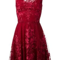 Zuhair Murad Floral Lace Mini Dress - Jean Pierre Bua - Farfetch.com