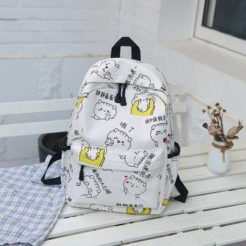 University College Backpack Animal Printing School Students Leisure   School bags Fashion Canvas Women s Female Shoulder Travel BagAT_63_4