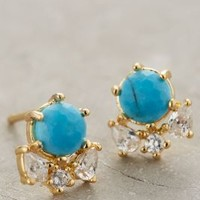 Serpa Cluster Posts by Anthropologie Turquoise One Size Earrings