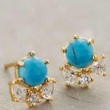 Serpa Cluster Posts by Anthropologie in Turquoise Size: One Size Earrings
