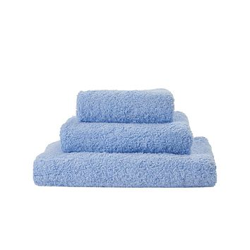 Super Pile Powder Blue Towels by Abyss and Habidecor