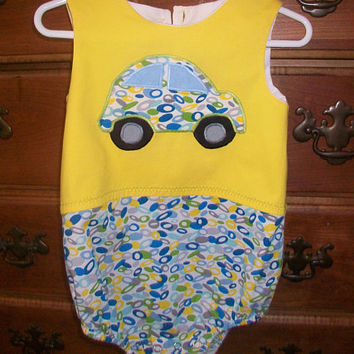 Baby Boys Bubble Romper, 12 Month Boy Outfit, Boys Romper, Boys one Piece Outfit, Boys Summer Clothes, Boys Jumpsuit, Baby Boys Gift
