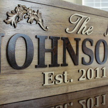Personalized Family Name Sign Wooden Sign by michaelswoodworks