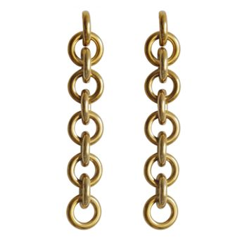 Laura Lombardi Fede Earrings - Gold Brass Chain Earrings