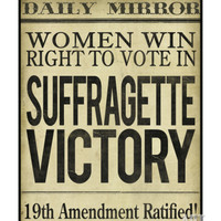 Women's right to Vote Giclee Print at Art.com